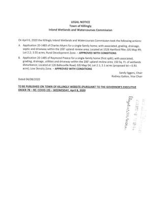 Legal Notice for IWWC Actions Taken (4-6-20)